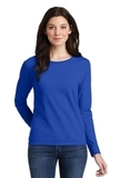 Women's Heavy Cotton 100 Cotton Long Sleeve TShirt Royal Thumbnail