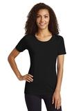 Women's TriBlend Wicking Scoop Neck Raglan Tee Black Triad Solid Thumbnail