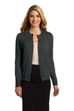 Women's Button Front Cardigan Charcoal Heather Thumbnail