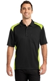 Snag Proof Pocket Polo Black with Shock Green Thumbnail