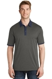 Heather Contender Contrast Polo Graphite Heather with True Navy Thumbnail