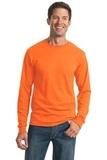 Moisture Management 50/50 Cotton / Poly Long Sleeve T-shirt Safety Orange Thumbnail