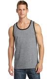 5.4 oz. 100% Cotton Tank Top Athletic Heather with Jet Black Thumbnail