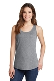 Women's 5.4 oz. 100 Cotton Tank Top Athletic Heather Thumbnail