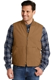 Washed Duck Cloth Vest Duck Brown Thumbnail