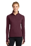 Women's Stretch 1/2-zip Pullover Maroon Thumbnail