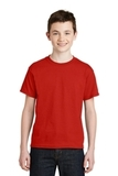 Youth Ultra Blend 50/50 Cotton / Poly T-shirt Red Thumbnail