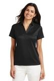 Women's Performance Fine Jacquard Polo Shirt Black Thumbnail