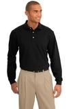 Rapid Dry Long Sleeve Polo Shirt Jet Black Thumbnail
