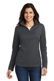 Women's Pinpoint Mesh 1/2 Zip Pullover Battleship Grey Thumbnail