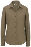 Women's Long Sleeve Service Shirt Tan Thumbnail