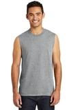 Core Cotton Sleeveless Tee Athletic Heather Thumbnail