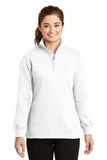 Women's 1/4-zip Sweatshirt White Thumbnail