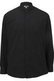 Men's Banded Collar Shirt Black Thumbnail