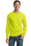 Moisture Management 50/50 Cotton / Poly Long Sleeve T-shirt Safety Green Thumbnail