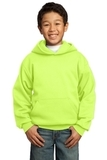 Youth Pullover Hooded Sweatshirt Neon Yellow Thumbnail