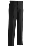 Men's Flat Front Poly / Wool Pant Black Thumbnail