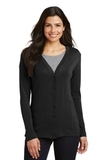 Women's Modern Stretch Cotton Cardigan Black Thumbnail