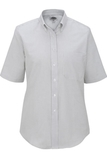 Women's Dress Button Down Oxford SS Grey Stripe Thumbnail