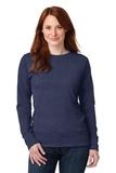 Women's French Terry Crewneck Sweatshirt Heather Blue Thumbnail