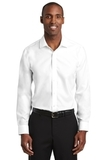 Red House Slim Fit Pinpoint Oxford Non-Iron Shirt White Thumbnail