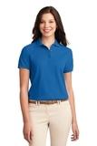 Women's Silk Touch Polo Shirt Strong Blue Thumbnail