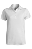Women's Short Sleeve Blended Pique Polo White Thumbnail