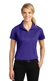 Women's Micropique Moisture Wicking Polo Shirt Purple Thumbnail
