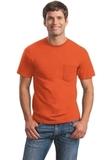 Ultra Cotton 100 Cotton T-shirt With Pocket Orange Thumbnail