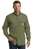 Carhartt Force Ridgefield Solid Long Sleeve Shirt Burnt Olive Thumbnail