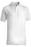 Men's Short Sleeve Soft Touch Blended Pique Polo White Thumbnail