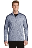 Electric Heather Colorblock 1/4-Zip Pullover True Navy Electric with True Navy Thumbnail