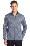 Electric Heather Soft Shell Jacket True Navy Electric Thumbnail