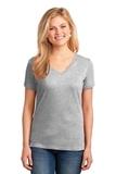 Women's 5.4-oz 100 Cotton V-neck T-shirt Ash Thumbnail