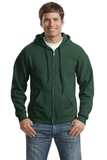 Full-zip Hooded Sweatshirt Forest Green Thumbnail