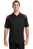 Snag Proof Pocket Polo Black with Red Thumbnail