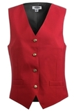Women's Economy Vest Red Thumbnail