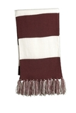Spectator Scarf Maroon with White Thumbnail