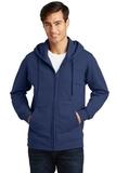 Port & Company Fan Favorite Fleece Full-Zip Hooded Sweatshirt Team Navy Thumbnail