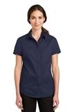 Women's Short Sleeve SuperPro Twill Shirt True Navy Thumbnail