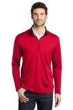 Silk Touch Performance 1/4-Zip Red with Black Thumbnail
