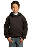 Youth Pullover Hooded Sweatshirt Dark Chocolate Brown Thumbnail