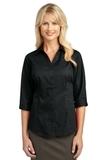 Women's 3/4-sleeve Blouse Black Thumbnail
