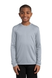 Youth Long Sleeve Competitor Tee Silver Thumbnail