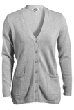 Women's Cardigan Sweater Grey Heather Thumbnail