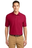 Extended Size Silk Touch Polo Shirt Red Thumbnail