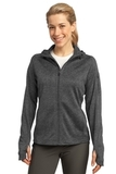 Women's Sport-tek Tech Fleece Full-zip Hooded Jacket Graphite Heather Thumbnail