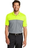 Nike Golf DriFIT Colorblock Micro Pique Polo Volt with Cool Grey Thumbnail