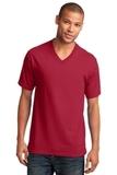 5.4-oz 100 Cotton V-neck T-shirt Red Thumbnail