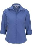 Women's Easy Care Poplin Shirt 3/4 Sleeve French Blue Thumbnail
